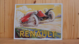 PLAQUE LITHOGRAPHIQUE RENAULT 30 X 40 CM