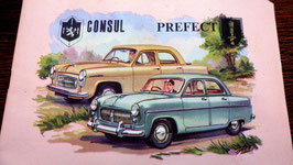 ANCIEN CAHIER D ECOLIER NEUF FORD CONSUL PERFECT . AU VERSO :  LES TABLES DE MULTIPLICATIONS