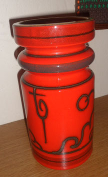 VASE ORANGE PLATEEL GOUDA HOLLAND