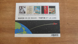 FEUILLET COMPLET  DE TIMBRES TINTIN  OBJECTIF LUNE 2004. NON OBLITERE