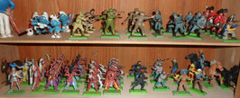 GRAND LOT DE BRITAINS COWBOYS SOLDATS CHEVAUX