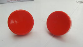 LOT DE 2 POIGNEES POUR MEUBLE ORANGE DIAMETRE 5 CM