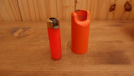 BRIQUET ET SON PORTE BRIQUET ORANGE