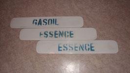 PLEXI-GLASS DE POMPE A ESSENCE OU GAZSOIL  53 X 9 CM