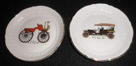 COUPELLES BAVARIA SCHUMANN ARZBERG N°85 ROLLS ROYS 1904 ET SELDEN'S MOTOR WAGON 1877