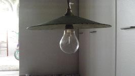 LAMPE A SUSPENDRE EN EMAIL VERT/BLANC