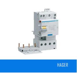 Bloc différentiel 3P+N 40A 300mA type AC HAGER Réf. BFC940F