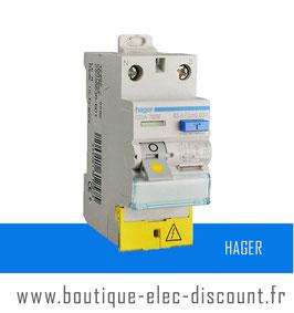 Interrupteur Différentiel HAGER 63A 30mA A à vis Réf CDA765F