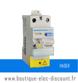 Interrupteur Différentiel Hager 40A 30mA A à vis Réf CDA743F