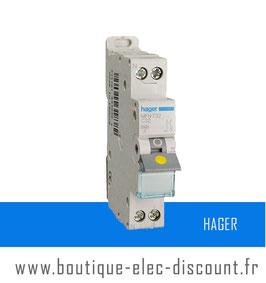 Disjoncteur Hager 32A à vis Réf MFN732