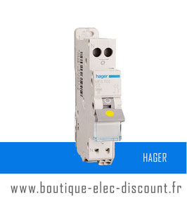 Disjoncteur Hager 2A Réf MFS702 SanVis
