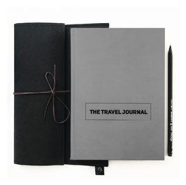 TRAVEL BUNDLE GRAU - Journal hard, Bag, Pen