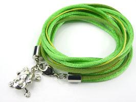 Armband grün mit Fosch, Farbe personalisierbar