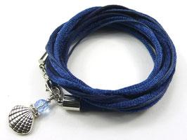 Armband mit Muschel, Farbe personalisierbar