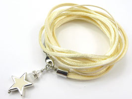 Armband champagner mit Stern, Farbe personalisierbar
