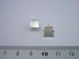 Ohrstecker geschmiedet, 925 Silber, konkav, matt, Rand poliert, einzeln erhältlich