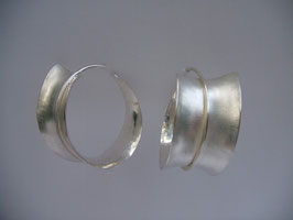 Ohrhänger geschmiedet, 925 Silber