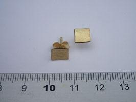 Ohrstecker 750 Gold geschmiedet, konkav gewölbt, matt, Ränder poliert