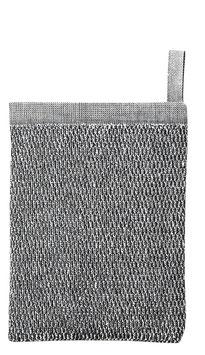 Waschlappen-Handschuh Meri white black linnen
