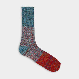 Socken Charlie Light Blue & Red, Grösse 39-45