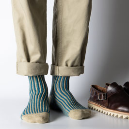 Socken Vertical Blue, Grösse 39-45