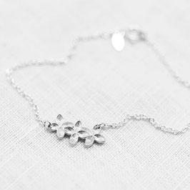 Floral Bracelet - Silber