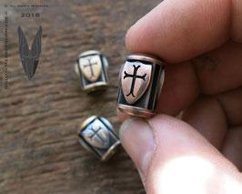 "Silver Trinity Bead ,,Big Shields"""