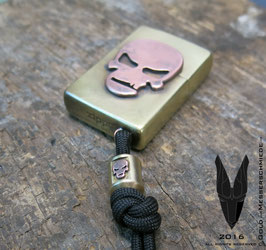 Brass Lighter Skull