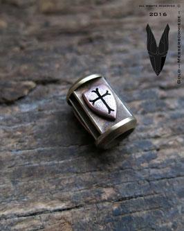 """Bronze Trinity Bead ,,Shields"""""""