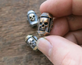 Bronze Big Trinity Bead ,,Skulls""
