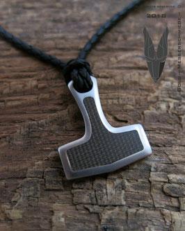 Hammer Pendant Titanium Micarta
