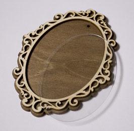 30. Деревянный магнит заготовка багет (Овал)