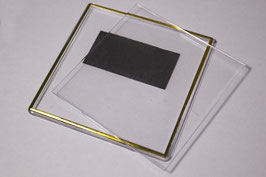 21. Заготовка акрилового магнита 100х100мм с золотым тиснением