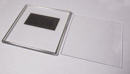 22. Заготовка акрилового магнита 100х100мм с серебрянным тиснением.