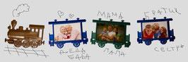 41. Заготовка акрилового магнита поезд+вагоны