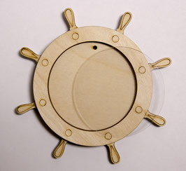 Деревянный магнит заготовка Штурвал 54 мм