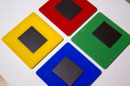 18. Заготовка акрилового магнита квадратная, разноцветная 65х65