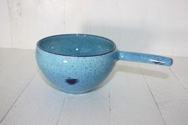 Entonnoir bleu clair point bleu foncé à remplir les pots de confiture avec poignée