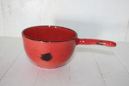 Entonnoir rouge point noir à remplir les pots de confiture avec poignée