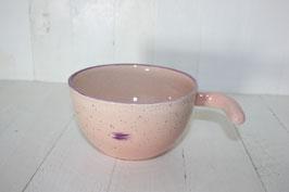 Entonnoir rose clair point vviolet à remplir les pots de confiture avec poignée
