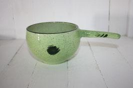 Entonnoir vert clair point vert foncé à remplir les pots de confiture avec poignée