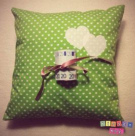 Kissen «Love Green»
