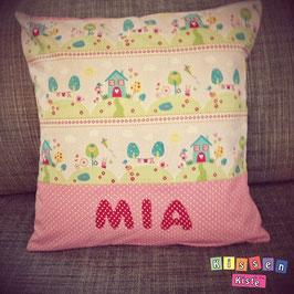 Namenskissen «Mia rosa»