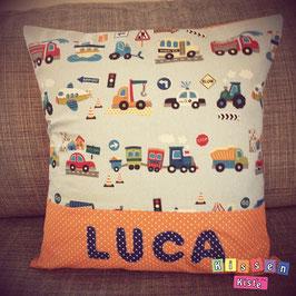 Namenskissen «Mika / Luca»
