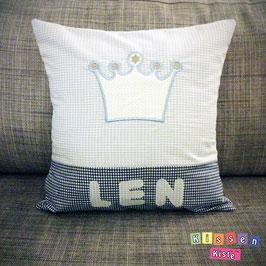 Kissen zur Geburt «Len»
