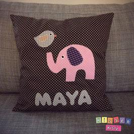 Namenskissen «Maya Elefant»