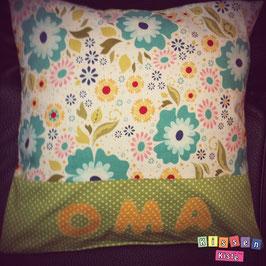 Namenskissen «Oma grün»