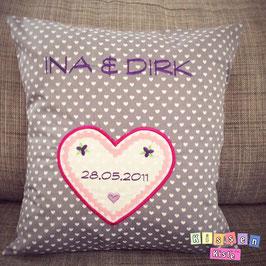 Hochzeitskissen «Ina & Dirk»