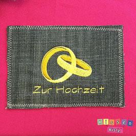 Postkarte «Zur Hochzeit / Ringe»