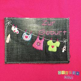 Postkarte «Zur Geburt bunt»